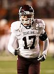 Texas A&M Aggies quarterback Ryan Tannehill (17)) in action during the Texas A & M vs. Texas Longhorns football game at the Darrell K Royal - Texas Memorial Stadium in Austin, Tx. Texas A & M defeats Texas 24 to 17....