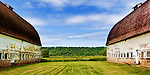 Twin Barns, a popular feature highlighting an agricultural history, Nisqually National Wildlife Refuge, Washington State.