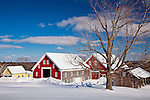 Barn at the Sabbaday Lake Shaker Village in New Gloucester, ME, USA