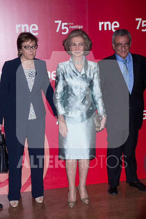 01.06.2012. Queen Sofia attends the closing concert of the 75 th Anniversary of National Radio of Spain at the Teatro Monumental in Madrid. In the image Queen Sofia of Spain (Alterphotos/Marta Gonzalez)