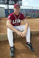 Steve Kahn of the Loyola Marymount Lions poses for a photo before a 2004 season game at Page Stadium, in Los Angeles, California. (Larry Goren/Four Seam Images)