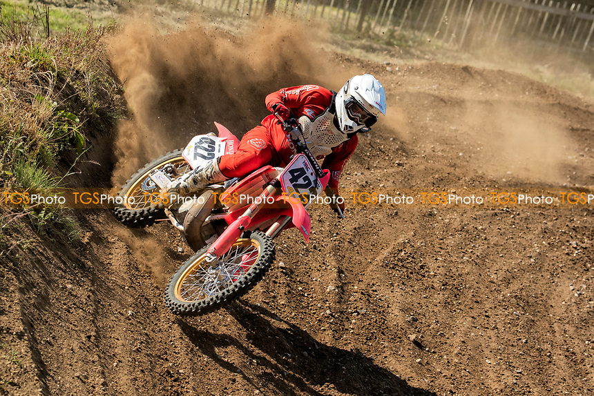 Brett Fisher, South Eastern Evo in action during the Richard Fitch Memorial Trophy Motocross at Wakes Colne MX Circuit on 18th July 2021