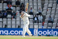 Kane Williamson, New Zealand pulls a short delivery square of the wicket to bring up his half century during India vs New Zealand, ICC World Test Championship Final Cricket at The Hampshire Bowl on 23rd June 2021