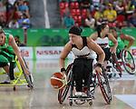 Cindy Ouellet, Rio 2016 - Wheelchair Basketball // Basketball en fauteuil roulant.<br /> The Canadian women's wheelchair basketball faces host nation, Brazil, in their final match of preliminaries // Le basketball en fauteuil roulant féminin canadien affrontera le pays hôte, le Brésil, dans son dernier match de la ronde préliminaire. 12/09/2016.
