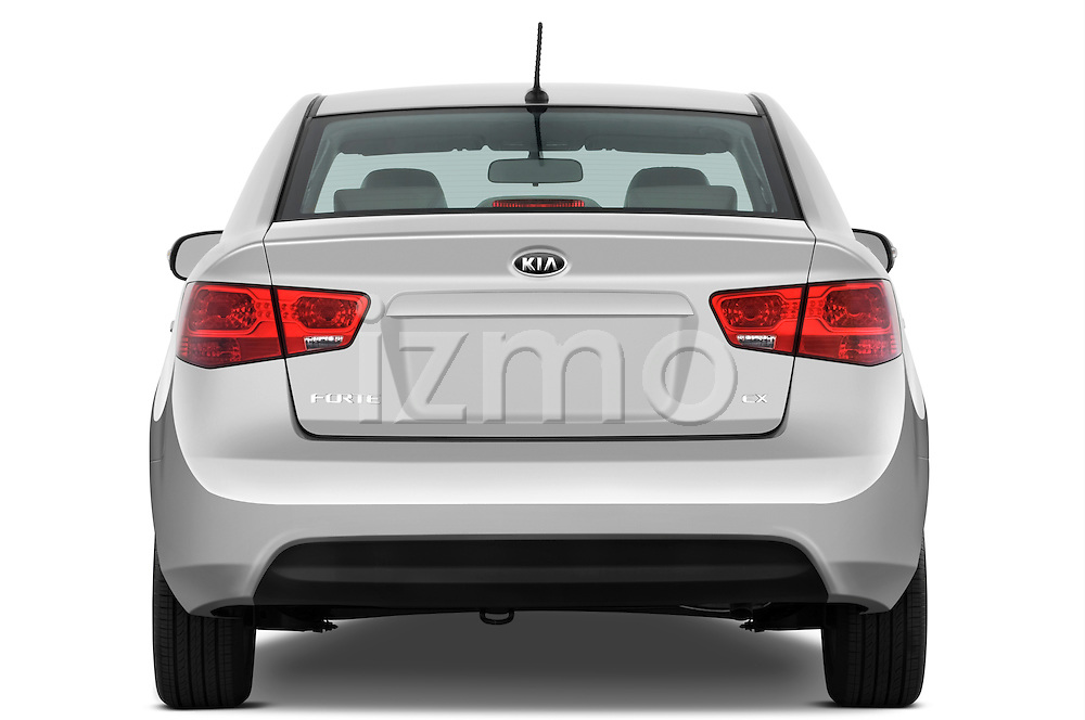 Straight rear view of a 2010 Kia Forte EX