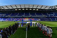 HARRISON, NJ - MARCH 08: Japan and England  walkout during a game between England and Japan at Red Bull Arena on March 08, 2020 in Harrison, New Jersey.