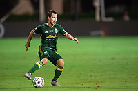 LAKE BUENA VISTA, FL - AUGUST 11: Sebastian Bianco #10 of the Portland Timbers dribbles the ball during a game between Orlando City SC and Portland Timbers at ESPN Wide World of Sports on August 11, 2020 in Lake Buena Vista, Florida.