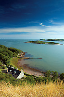 Rockcliffe, Rough Island and the Solway Firth from Mote of Mark, Rockcliffe, Dumfries and Galloway