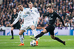 Real Madrid Cristiano Ronaldo and PSG Giovani Lo Celso during Eight Finals Champions League match between Real Madrid and PSG at Santiago Bernabeu Stadium in Madrid , Spain. February 14, 2018. (ALTERPHOTOS/Borja B.Hojas)