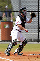 UMass Tom Conley #31 during a game vs Indiana Hoosiers at Lake Myrtle Main Field in Auburndale, Florida;  March 16, 2011.  Indiana defeated UMass 11-10.  Photo By Mike Janes/Four Seam Images