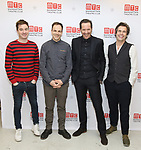James Graham, Jonny Lee Miller, Bertie Carvel and Rupert Goold attends the 'INK' cast photo call and rehearsal at Manhattan Theatre Club Rehearsal Studios on March 5, 2019 in New York City.