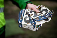 post-race number collection<br /> <br /> UCI 2021 Cyclocross World Championships - Ostend, Belgium<br /> <br /> Women's Race<br /> <br /> ©kramon