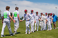 Medbury School and Hereworth School players after National Primary Cup boys' cricket tournament final at Lincoln Domain in Christchurch, New Zealand on Wednesday, 20 November 2019. Photo: John Davidson / bwmedia.co.nz