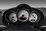 Instrument panel close up detail view of a 2009 Porsche Cayman S