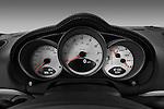 Instrument panel close up detail view of a 2009 Porsche Cayman S
