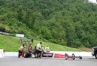 Jun. 18, 2011; Bristol, TN, USA: NHRA top fuel dragster driver Doug Kalitta during qualifying for the Thunder Valley Nationals at Bristol Dragway. Mandatory Credit: Mark J. Rebilas-