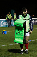 London Scottish players warming up during the Greene King IPA Championship match between London Scottish Football Club and Nottingham Rugby at Richmond Athletic Ground, Richmond, United Kingdom on 7 February 2020. Photo by Carlton Myrie.