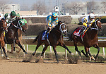 JOE VANN and jockey Florent Geroux heading into the first turn of the GIII TVG Illinois Derby at Hawthorne Race Course in Cicero/Stickney, IL.
