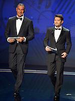 Ruud Gullit e Bixente Lizarazu <br /> Parigi 12-12-2015 Sorteggio fase finale Euro 2016 campionato Europeo di Calcio per Nazioni Francia 2016 <br /> Foto Anthony BIBARD / Panoramic / Insidefoto