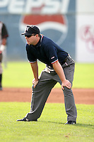 Umpire Jeremy Crowe during a NY-Penn League game at Dwyer Stadium on August 27, 2006 in Batavia, New York.  (Mike Janes/Four Seam Images)