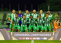 CARACAS - VENEZUELA, 07-02-2019. Jugadores de Atlético Nacional de Colombia posan para una foto previo al partido con La Guaira de Venezuela por la segunda fase, llave 6, de la Copa CONMEBOL Libertadores Bridgestone 2019 jugado en el estadio Olimpico UCV de la ciudad de Caracas. / Players of Atletico Nacional of Colombia pose to a photo prior the match with La Guaira of Venezuela for the second phase, key 6, of the Copa CONMEBOL Libertadores Bridgestone 2019 played at Olimpico UCV stadium in Caracas city. Photo: VizzorImage/ Ederik Palencia /Cont
