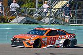 Monster Energy NASCAR Cup Series<br /> Ford EcoBoost 400<br /> Homestead-Miami Speedway, Homestead, FL USA<br /> Sunday 19 November 2017<br /> Daniel Suarez, Joe Gibbs Racing, ARRIS Toyota Camry<br /> World Copyright: Nigel Kinrade<br /> LAT Images