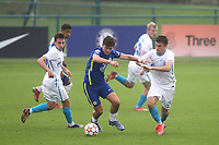 Leo Castledine of Chelsea U19's in action during Chelsea Under-19 vs FC Zenit Under-19, UEFA Youth League Football at Cobham Training Ground on 14th September 2021