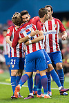 Yannick Ferreira Carrasco of Atletico de Madrid celebrates with teammates during their La Liga match between Atletico de Madrid and Granada CF at the Vicente Calderon Stadium on 15 October 2016 in Madrid, Spain. Photo by Diego Gonzalez Souto / Power Sport Images