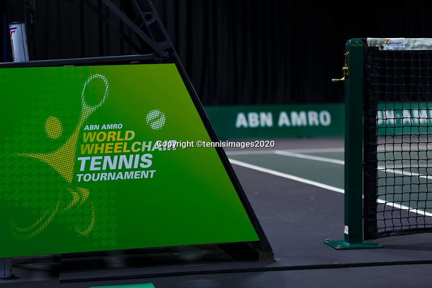 Rotterdam, The Netherlands, 14 Februari 2020, ABNAMRO World Tennis Tournament, Ahoy, Wheelchair: Gordon Reid (GBR), Joachim Gerard (BEL).<br /> Photo: www.tennisimages.com