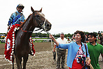 August 23, 2014: V.E. Day with Javier Castellano win the 145th running of the Grade I  Travers Stakes for 3-year olds, going 1 1/4 mile at Saratoga Racetrack. Trainer: James A. Jerkens . Owner: Magalen O. Bryant . Sue Kawczynski/ESW/CSM