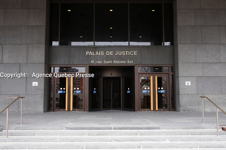 Montreal Palais de Justice (courthouse) in 2013<br /> <br /> File Photo : Agence Quebec Presse - Pierre Roussel