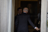 Nick Clegg (British Deputy Prime Minister) welcomes Joe Biden.<br />