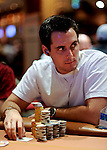 Kyle Zartman with a big stack going into the last level of play.