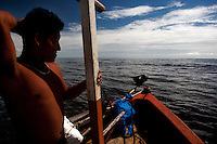 Shrimp fishing. Caraiva, Brazil.