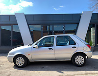 BNPS.co.uk (01202 558833)<br /> Pic: HampsonAuctions/BNPS<br /> <br /> Pictured: 1991 Ford Fiesta Ghia.<br /> <br /> Since the 1990s, Geoff Barlow, 46, has collected dozens of classic cars from an Escort Mexico replica to several types of Transit, Cortina, and Sierra.<br /> <br /> However, he still regrets selling the first car which inspired his passion, a 1980 Escort Mark 2 he bought from his sister in 1992.  <br /> <br /> Geoff's fascination with Fords gathered pace in the last decade and he 'lost control,' buying as many Fords as he came across and saving them from disrepair.