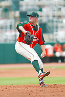 Greensboro Grasshoppers starting pitcher Chipper Smith (33) in action against the Augusta GreenJackets at NewBridge Bank Park on August 11, 2013 in Greensboro, North Carolina.  The GreenJackets defeated the Grasshoppers 6-5 in game one of a double-header.  (Brian Westerholt/Four Seam Images)