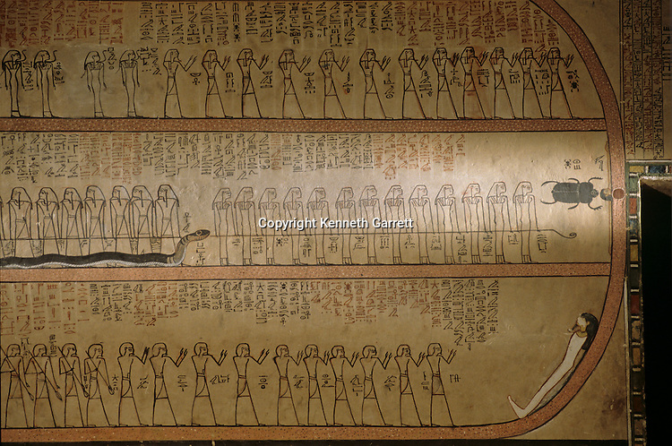 Book of the Dead; Tomb of Amenhotep II; Valley of the Kings, Tutankhamun and the Golden Age of the Pharaohs, Page 121