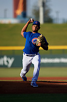 AZL Cubs 1 starting pitcher Richard Gallardo (40) during an Arizona League game against the AZL Royals on June 30, 2019 at Sloan Park in Mesa, Arizona. AZL Royals defeated the AZL Cubs 1 9-5. (Zachary Lucy/Four Seam Images)