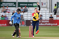 Sam Cook in bowling action for Essex during Essex Eagles vs Sussex Sharks, Vitality Blast T20 Cricket at The Cloudfm County Ground on 15th June 2021