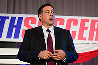 Philadelphia, PA - Saturday January 20, 2018: Paul Caligiuri during the U.S. Soccer Federation Presidential Election Candidates Forum hosted by US Youth Soccer at the Philadelphia Marriott Downtown Grand Ballroom.