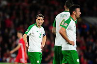 Seamus Coleman of Republic of Ireland during the UEFA Nations League B match between Wales and Ireland at Cardiff City Stadium in Cardiff, Wales, UK.September 6, 2018