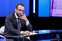 Claudio Cerasa<br /> Roma 07-09-2016 Rai, trasmissione televisiva 'Politics'.<br /> Rome 7th September 2016 Tv show 'Politics'.<br /> Photo Samantha Zucchi Insidefoto