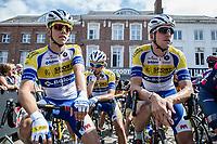 Sport Vlaanderen-Baloise riders focusing minutes before start<br /> <br /> 2nd Dwars door het Hageland 2017 (UCI 1.1)<br /> Aarschot > Diest : 193km