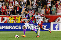 Harrison, NJ - Wednesday Aug. 03, 2016: Hugo Acosta Caceres, Chris Duvall during a CONCACAF Champions League match between the New York Red Bulls and Antigua at Red Bull Arena.