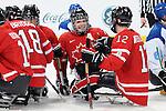 Brad Bowden, Vancouver 2010 - Para Ice Hockey // Para-hockey sure glace.<br /> Team Canada plays against Italy in Para Ice Hockey action // Équipe Canada affronte l'Italie dans un match de para-hockey sur glace. 13/03/2010.