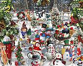 Lori, CHRISTMAS SANTA, SNOWMAN, WEIHNACHTSMÄNNER, SCHNEEMÄNNER, PAPÁ NOEL, MUÑECOS DE NIEVE, paintings+++++Snowman Puzzle,USLS300,#x#