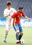 Spain's Nolito (r) and South Korea's Sungyueng Ki during friendly match. June 1,2016.(ALTERPHOTOS/Acero)