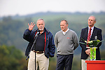 ISPS Handa Wales Open Golf final day at the Celtic Manor Resort in Newport, UK. :  Celtic Manor Resort owner Sir Terry Matthews talking about the Ryder Cup which was held at the resort in 2010.