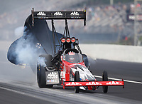 Sep 27, 2020; Gainesville, Florida, USA; NHRA top fuel driver Doug Kalitta during the Gatornationals at Gainesville Raceway. Mandatory Credit: Mark J. Rebilas-USA TODAY Sports