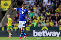 28th August 2021; Carrow Road, Norwich, Norfolk, England; Premier League football, Norwich versus Leicester; Jamie Vardy of Leicester City